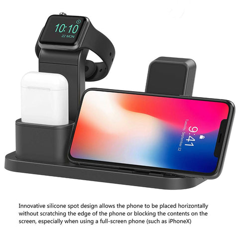 3-in-1 Wireless Charging Dock for Apple Watch, Airpods & Phone