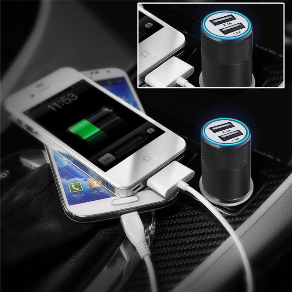 2.1a-24w 2-port Smart Usb Quick Charge Car Charger