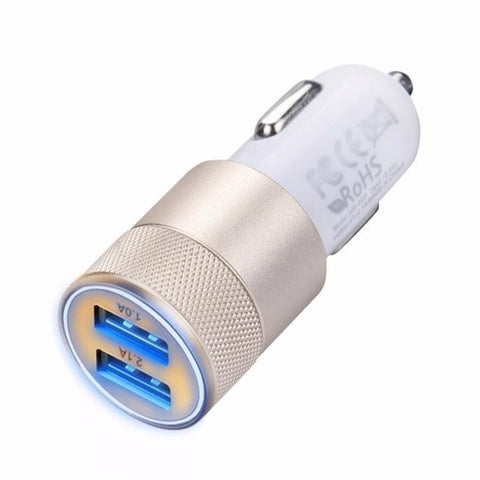Image of 2.1a-1.0a Mini Dual 2 Port 12v Usb Auto In Car Charger Adapter Adaptor Charging