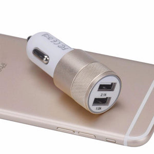2.1a-1.0a Mini Dual 2 Port 12v Usb Auto In Car Charger Adapter Adaptor Charging