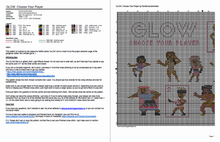 Load image into Gallery viewer, GLOW cross stitch pattern - Gorgeous Ladies Of Wrestling: Netflix