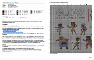 GLOW cross stitch pattern - Gorgeous Ladies Of Wrestling: Netflix