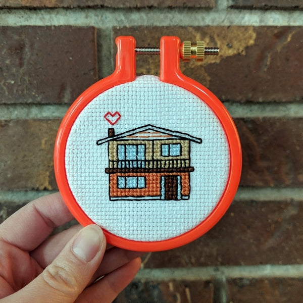 Vancouver Special Love cross stitch pattern – own some Vancouver property!