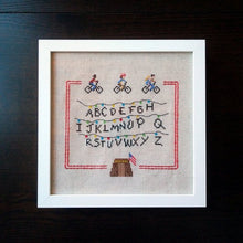 Load image into Gallery viewer, Stranger Things cross stitch sampler pattern