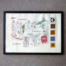 Load image into Gallery viewer, Game of Thrones Map of Essos cross stitch kit with pattern, thread and fabric