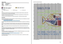 Load image into Gallery viewer, Babel Fish cross stitch pattern Hitchhiker's Guide to the Galaxy