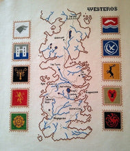 Load image into Gallery viewer, Game of Thrones cross stitch pattern Westeros map