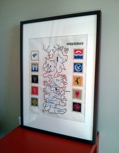 Game of Thrones cross stitch pattern Westeros map