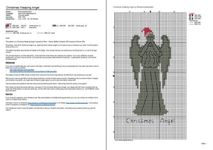 Doctor Who cross stitch pattern Christmas Weeping Angel