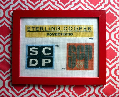Mad Men cross stitch pattern Sterling Cooper logo
