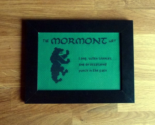 The Mormont Way cross stitch pattern Game of Thrones