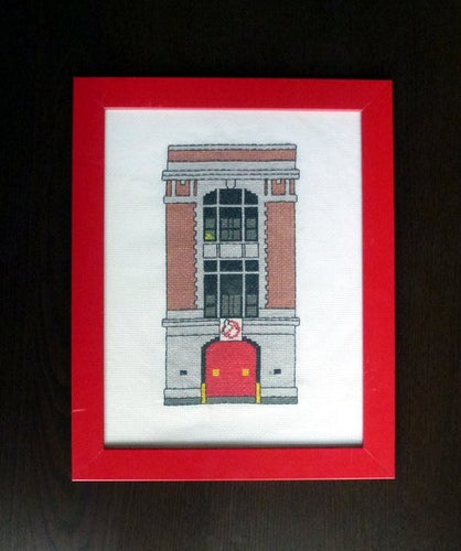 Ghostbusters firehouse cross stitch pattern
