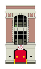 Load image into Gallery viewer, Ghostbusters firehouse cross stitch pattern