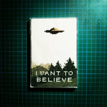 Load image into Gallery viewer, X Files I Want To Believe cross stitch pattern