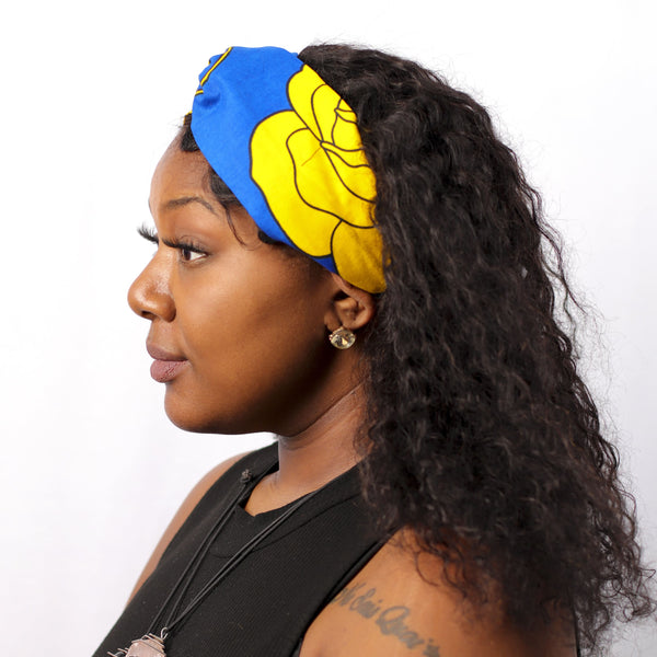 Flower Bomb Turban Headband - hair accessories