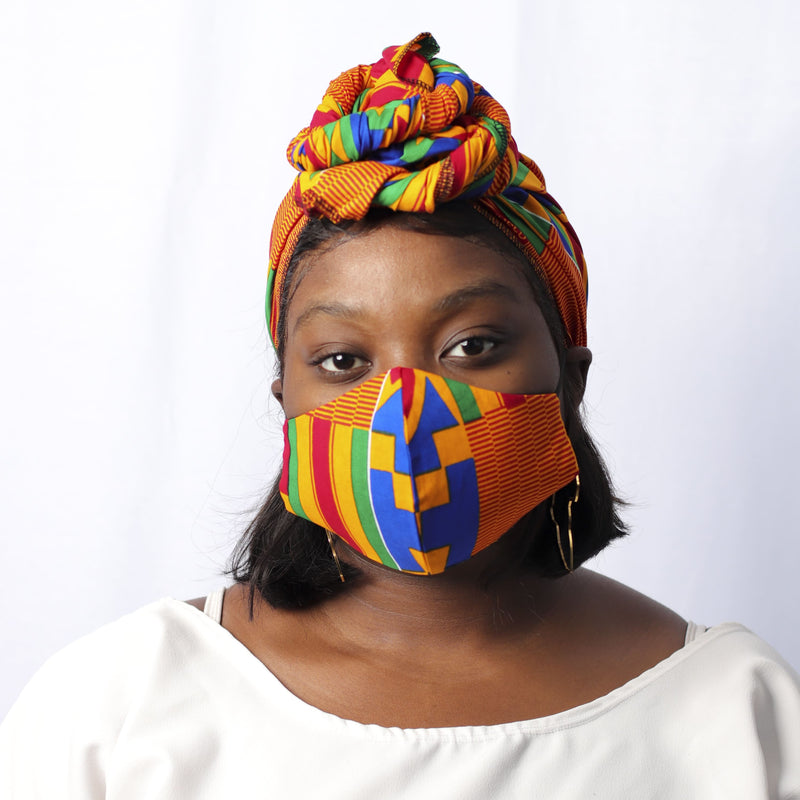 Kente Kente Headwrap - Headwrap Set - hair accessories