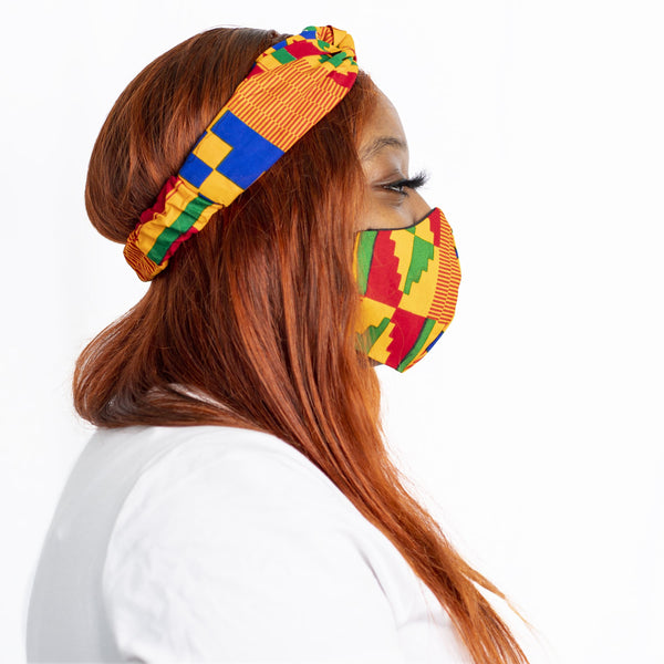 Kente Kente Turban Headband - hair accessories