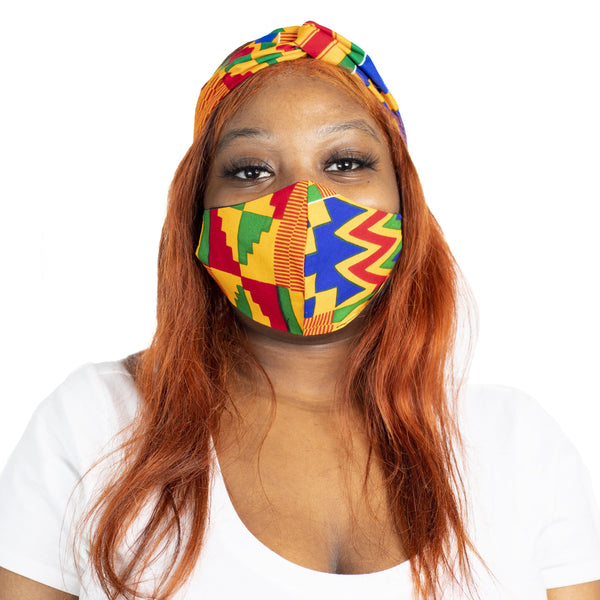 Kente Kente Turban Headband - Turban Headband Set - hair