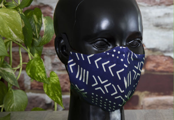 Level Up Face Cover - MEN / BLUE and White - FACECOVERING