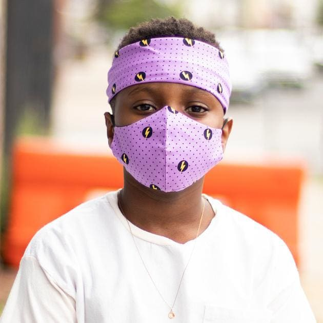 Power Up Bandanna Set - Men / Purple - FACECOVERING
