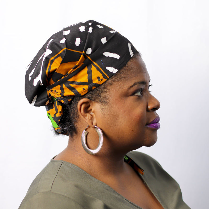 Vibrant Ting Headband & Scrub Cap - hair accessories