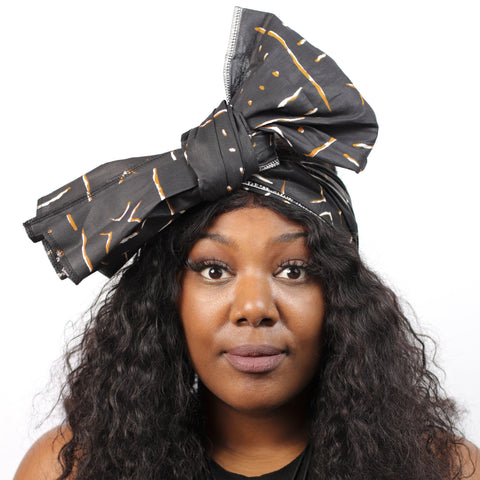 X Factor Headwrap - Headwrap Only / Brown and White - hair