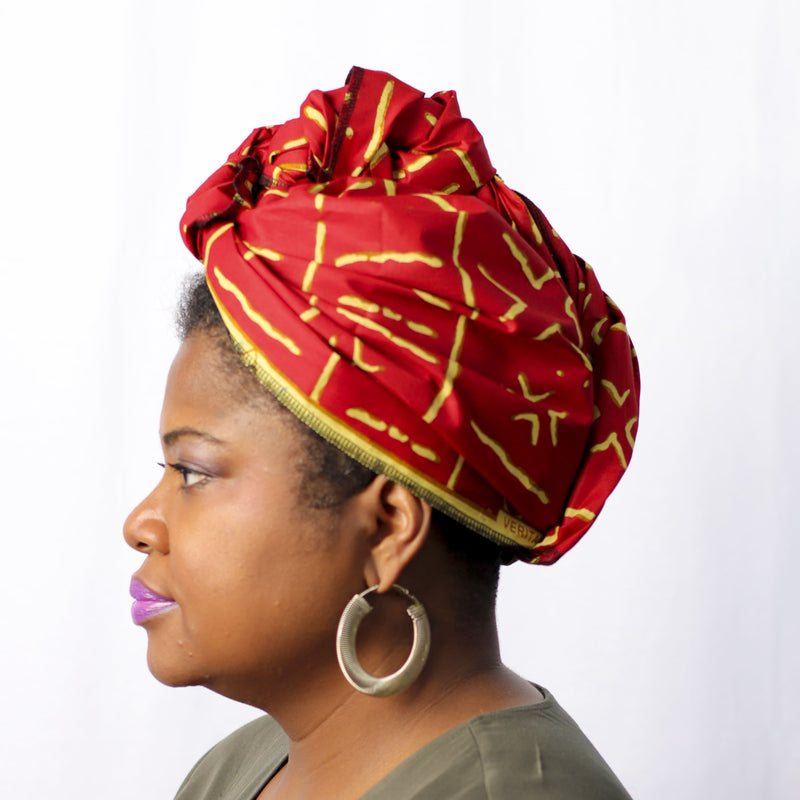 X Factor Headwrap - Headwrap Set / Red - hair accessories