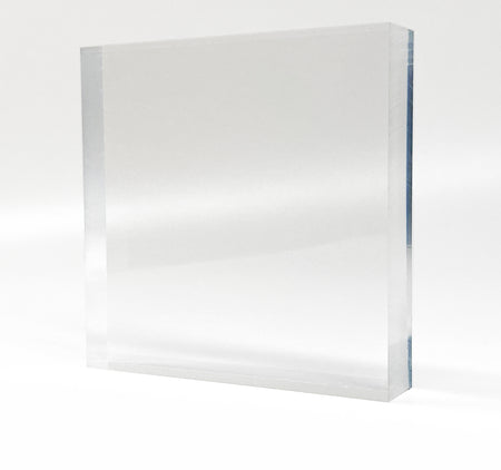 Clear Acrylic Photo Block 10x10 cm