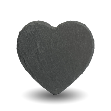 Natural Slate Plaque Heart Shape |10x10cm / 3.94x3.94"
