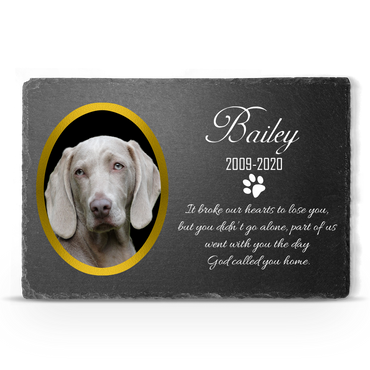 Personalised Slate Stone Pet Memorial 20x30 cm