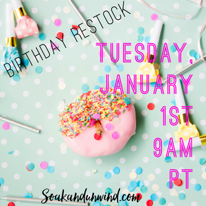 JANUARY 1ST BIRTHDAY RESTOCK: PRODUCT & SCENT LIST