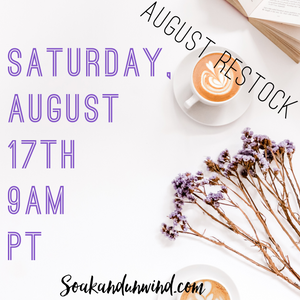 AUGUST 17TH RESTOCK: PRODUCT & SCENT LIST