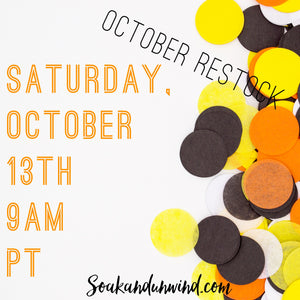 OCTOBER 13TH RESTOCK: PRODUCT & SCENT LIST