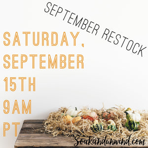 SEPTEMBER 15TH RESTOCK: PRODUCT & SCENT LIST
