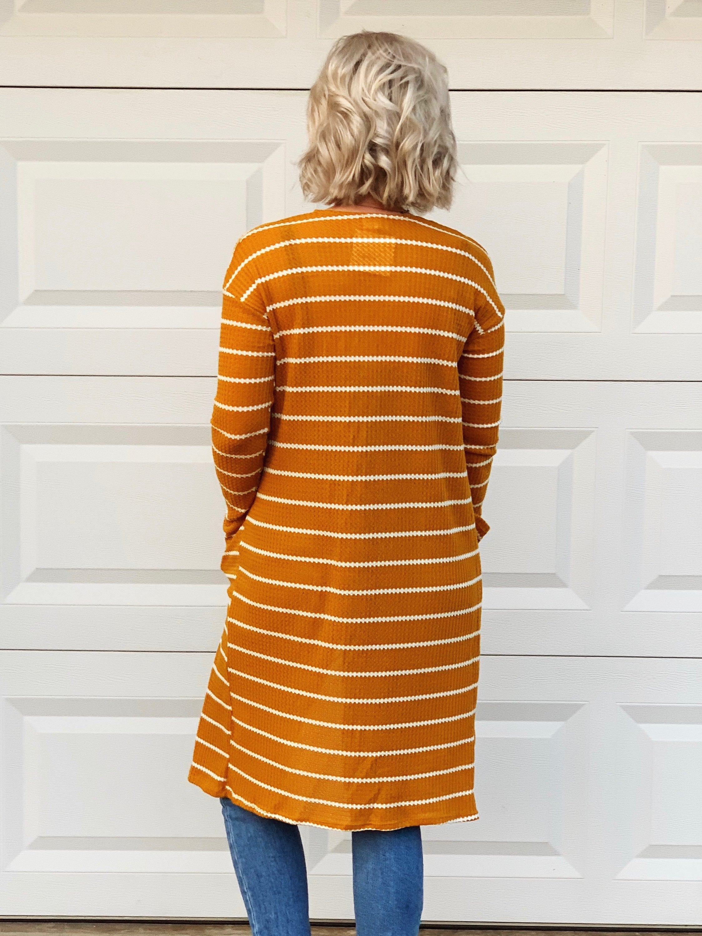 chilly nights duster - mustard