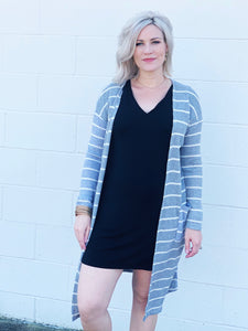 chilly nights duster - heather gray