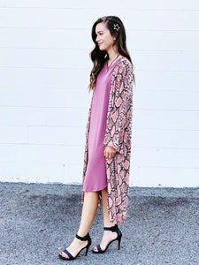 easy to love sleeveless high low dress - mauve