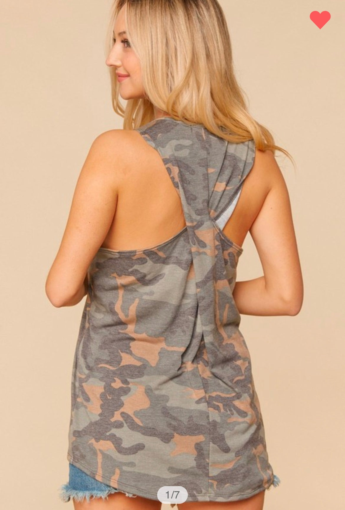 don't get it twisted camo racerback tank
