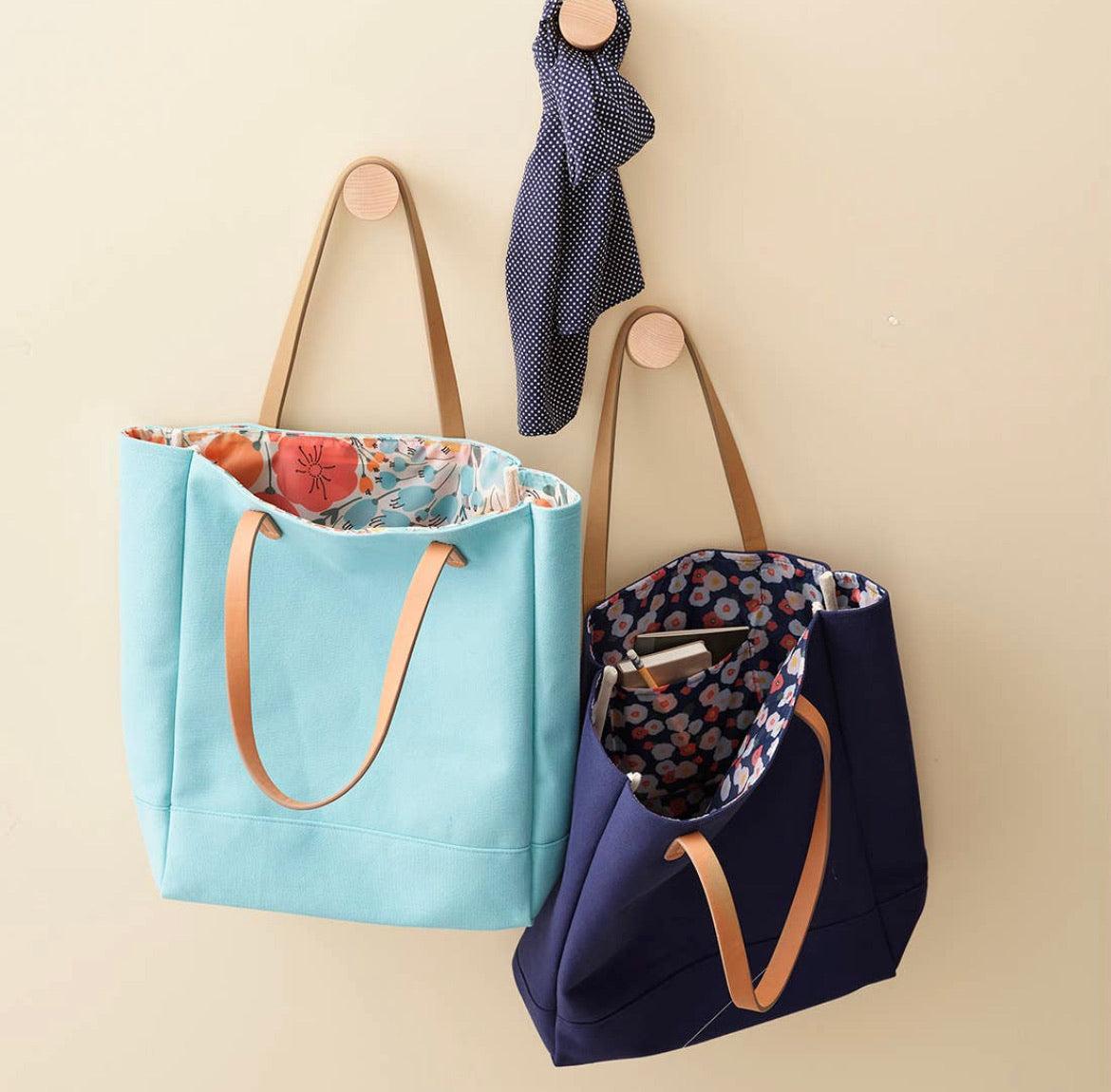 the cotton canvas tote - aqua