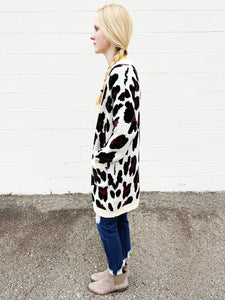 on the prowl leopard cardigan - ivory