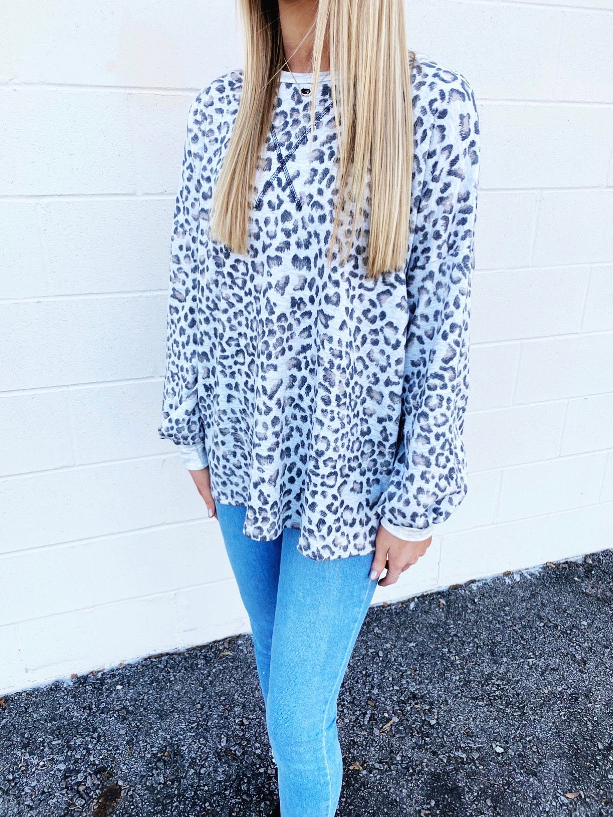 on the wild side leopard print top