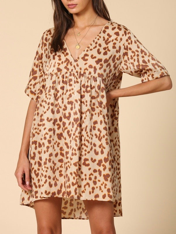 the cat's meow leopard babydoll