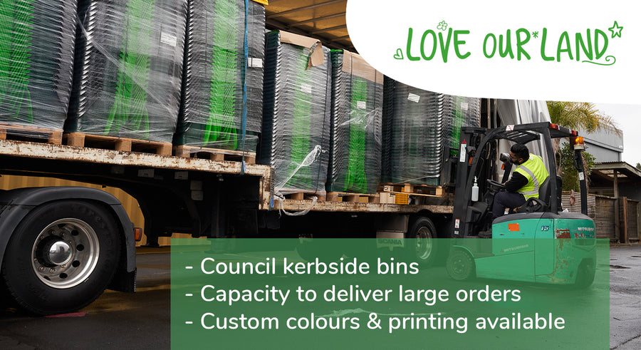 ECP can provide custom or bulk orders to meet your businesses requirements. We are the largest supplier of food waste bins to councils in NZ.
