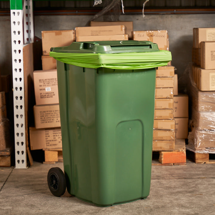 Large bins and wheelie bins available on order from ECP Compostables