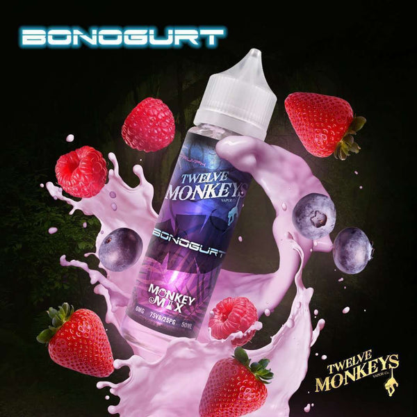 Bonoghurt By Twelve Monkeys 50ml Shortfill for your vape at Red Hot Vaping