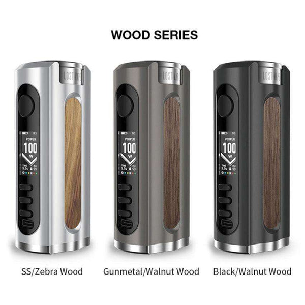 Grus 100w Mod Wood Series By Lost Vape for your vape at Red Hot Vaping