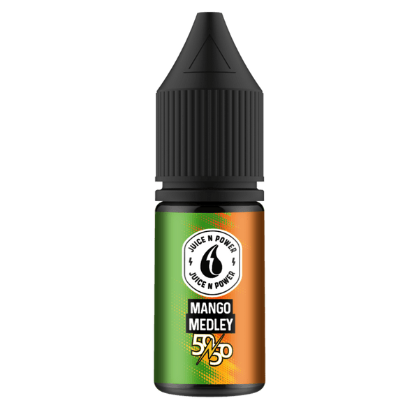 Mango Medley By Juice & Power 10ml 50/50 for your vape at Red Hot Vaping