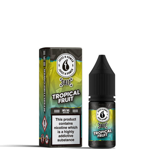 Tropical Fruit By Juice & Power Salt 10ml for your vape at Red Hot Vaping