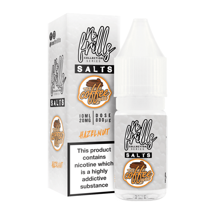 The Coffee Shop Hazelnut By No Frills Salt 10ml for your vape at Red Hot Vaping