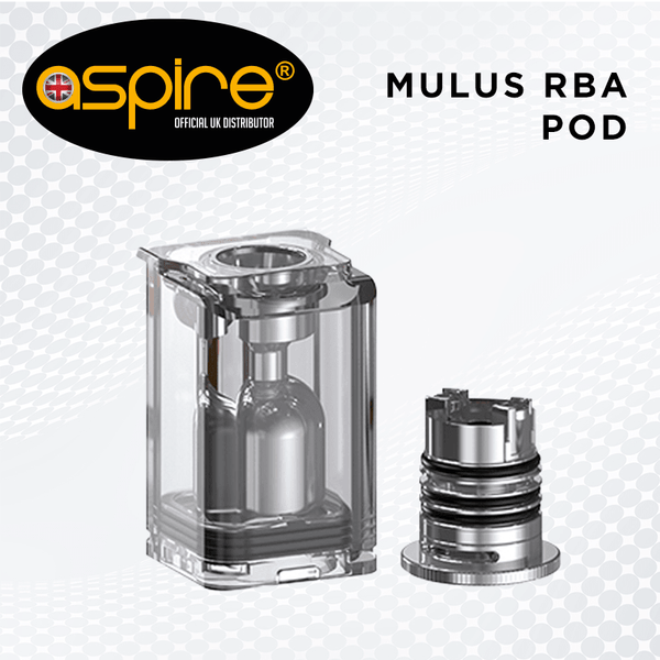 Mulus RBA Pod By Aspire for your vape at Red Hot Vaping
